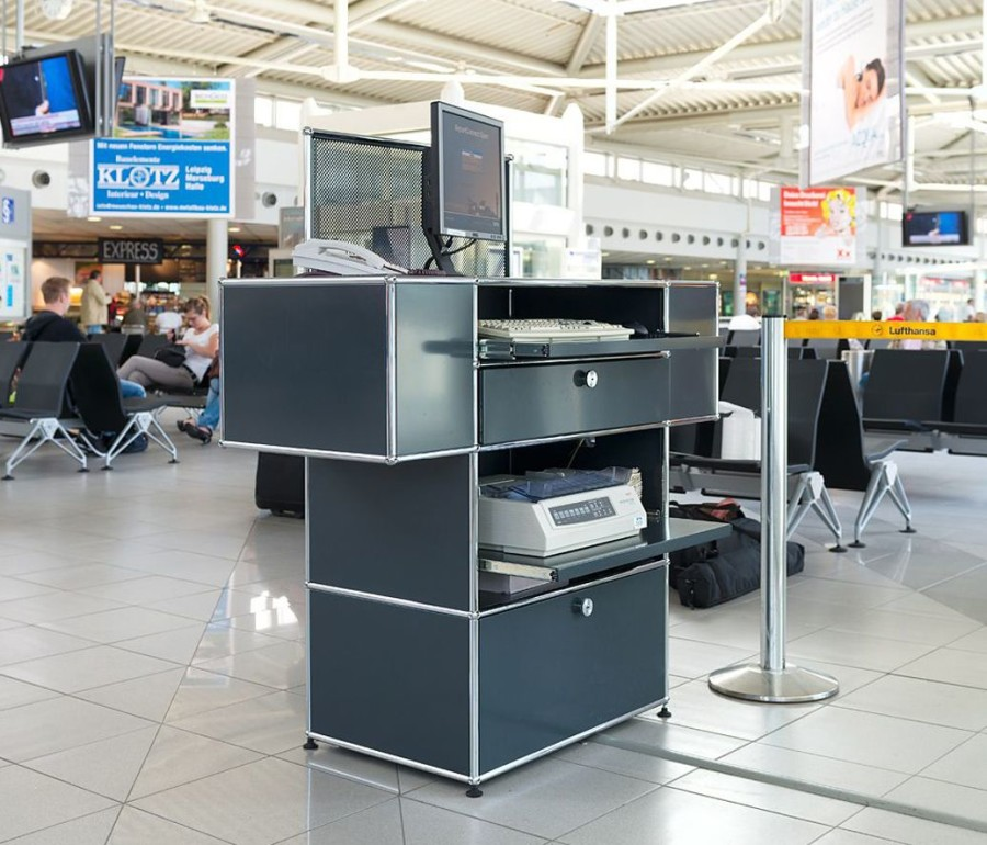 Counter Height Work Station : gate counter 1 8 stationary one work station gate counter basic module ...